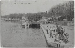 MELUN - LE PORT - SUPERBE ANIMATION - 1908 - Melun