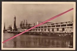 LE HAVRE -- La Gare Maritime _ 1936 _ Grue Et Batiment De La Compagnie Générale Transatlantique & Timbre Rouget De Lisle - Le Havre