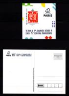 F 2019 / Neuf** Paris' écrit, Adhésif, International, Hors Programme (Tirage: 1530 Ex), Timbre + Carte Postale - Collectors