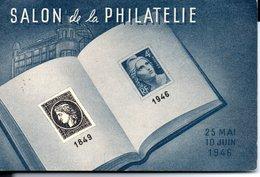 CPA SALON De La PHILATELIE  25 MAI 10 JUIN 1946  ( 15X10  ) - Poste & Facteurs