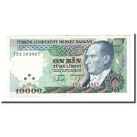 Billet, Turquie, 10,000 Lira, L.1970, 1982, KM:199, SUP - Turquie