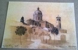 VEDUTA DEL DUOMO DI RAVENNA - DISEGNATA   (379) - Chiese E Cattedrali