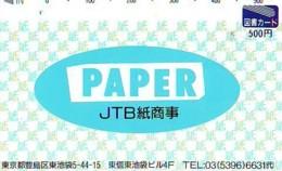 Télécarte Japon * JTB * (514) * PHONECARD JAPAN * TELEFONKARTE * - Publicité