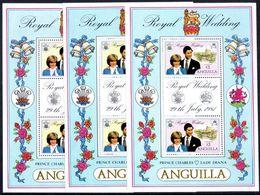 Anguilla 1981 Royal Wedding Sheetlets Unmounted Mint. - Anguilla (1968-...)