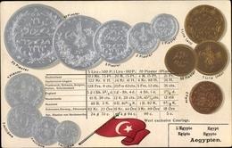 Gaufré Münz Cp Ägypten, 20 Piaster, 1 Lira, 2 Para, 5 Millieme, Flagge Der Türkei, Osmanisches Reich - Coins (pictures)