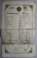 Passport Reisepass Passeport Neusatz 1850 DAMAGED (see Sales Conditions) - Documenti Storici