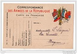 """CARTE POSTALE FM """" CORRESPONDANCE DES ARMÉES DE LA RÉPUBLIQUE """" . DESTINATION BAYONNE (64) - Réf. N°302T - - Marcofilie (Brieven)"""