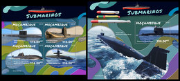 MOZAMBIQUE 2019 - Submarines. M/S + S/S. Official Issue - Mozambique