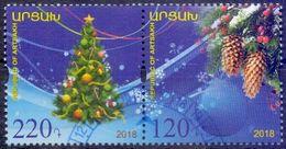 Used Armenia -Nagorno Karabakh Artsakh 2018, Christmas  2V. - Armenia