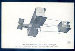 Cpa 2è Grande Semaine D' Aviation De Champagne Un Vol De Dufour Sur Biplan Voisin Moteur Labor Picker JM3 - ....-1914: Precursores