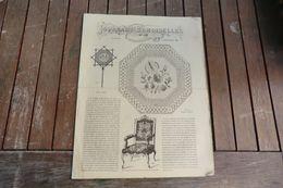 Revue-journal Des Demoiselles 2 Rue Drouot Paris 9°cahier Septembre 1880 - 8 Pages - Stickarbeiten
