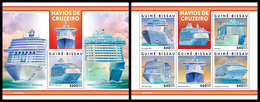 GUINEA BISSAU 2019 - Cruise Ships. M/S + S/S. Official Issue - Guinea-Bissau