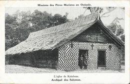 Missions Des Pères Maristes En Océanie - L'Eglise De Kakabona (Archipel Des Salomon) - Carte Non Circulée - Missions