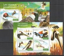 ST130 2015 GUINEE GUINEA FAUNA WATER BIRDS OISEAUX AQUATIQUES KB+BL MNH - Oiseaux
