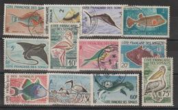 Cote Des Somalis 1959 Série Complète 292 à 303 12 Val Oblitérées - Oblitérés