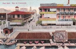 CPA  Egypte - Port Saïd - Rue De Commerce - 1913 - Port-Saïd