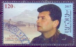 Used Armenia - Karabakh 2017, National Hero Leonid Azgaldyan (physicist, Tank)1V. - Armenia