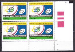 PGL DC0918 - ITALIA REPUBBLICA 2008 SASSONE N°3059 ** QUARTINA - 6. 1946-.. Repubblica