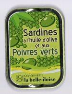 Puxisardinophilie - Boite à Sardines (vide)  à L'huile D'olive Et Aux Poivres Verts - La Belle-iloise - Autres Collections