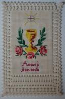 Rare Canivet Brodé - Images Religieuses