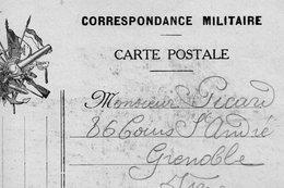 """CP- Correspondance  Militaire- """" 2 Drapeaux """"- - Marcophilie (Lettres)"""