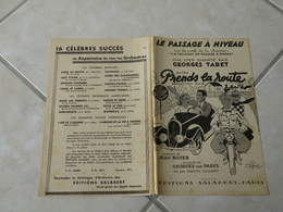 Le Passage à Niveau Du Fim Prends La Route(Paroles J. Boyer)(Musique G. Van Parys)Partition Pour Orchestre 1937 - Compositeurs De Musique De Film