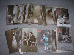 + De 2300 Cartes Postales Fantaisie Format 9x14 Enfant Femme Paysage Animaux Couple Fleurs Voeux Decoupis Tableaux Etc - 500 Cartoline Min.
