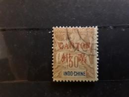 CANTON 1901, Type Groupe Surchargé,  Yvert No 11,  30 C Brun Obl TB - Gebraucht