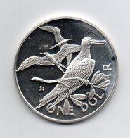 Isole Vergini Britanniche - 1973 - 1 Dollaro - Uccello Fregata - Proof - Argento - Peso 25 Grammi - (MW2393) - British Virgin Islands