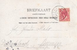 8 JUL 01 Grootrond GLANERBRUG Op Ansicht Naar Bremen - Storia Postale