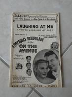 Laughing At Me(Irving Berlin Du Film OnThe Avenue)(Paroles)(Musique)Partition Pour Orchestre 1937 - Musique & Instruments