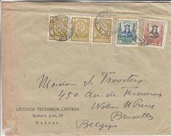 Lituanie - Lettre De 1933 ° - Oblit Kaunas - Exp Vers Woluwé St Pierre - Lituanie