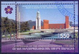 Used Armenia - Karabakh 2015, Armenian Genocide S/S. - Armenia