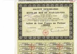 06-IMMOBILIERE ET DES BAINS DE MER DE JUAN-LES-PINS. Action 1924 - Actions & Titres