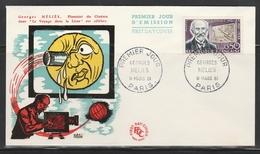 FDC 1284 GEORGES MELIES - PARIS 11.3.61 - CINÉMA - 1960-1969