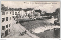 TREVISO:  RIVIERA  REGINA  MARGHERITA  E  PIAZZA  GARIBALDI  -  FP - Treviso