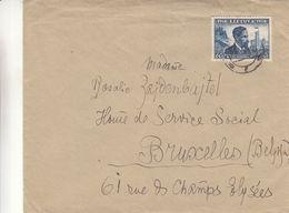Lituanie - Lettre De 1939 ° - Oblit Uzmerge  ? -  Exp Vers Bruxelles - - Lituanie