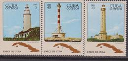 Cuba - Map Lighthouse Fari Set MNH - Fari