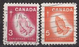 "Canada 1966 Sc. 451-452 Christmas ""Mani Preganti"" Quadro Dipinto A. Durer Natale Paintings Used - Natale"