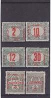 # Z.9796 Hungary, French Occupation In Szeged 1919 Hungarian 6 Stamps Overprint MH: Porto - Kőztársaság - Szeged