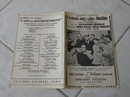 Il A Mal Aux Reins Tintin Du Film Cinderella)(Paroles G.Koger P. Caron)(Musique Vincent Scotto)Partition Pour Orchestre - Compositeurs De Musique De Film