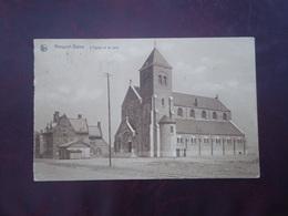 Nieuwpoort - Bad   Nieuport-Bains  L' Eglise Et La Cure              ( 2scans ) - Nieuwpoort