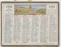 Almanach Des Postes, 1935, Calendrier Petit Format, Oller,14,5 X 11 , Fenaison, Labours - Calendars