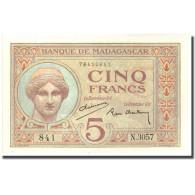 Billet, Madagascar, 5 Francs, KM:35, SPL+ - Madagascar