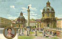 ROMA  FORO  TRAIANO Lit Bernadi Miliano RV Timbre  Cachet Hotel De Londres Rome - Roma (Rome)