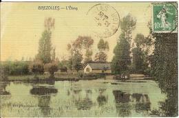 Carte Postale Ancienne Colorisée 1922  - Brezolles - L'étang - Editeur Flamichard - France