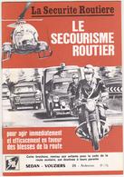 1975 - Brochure La Sécurité Routière / Secourisme / SEDAN-VOUZIERS / Nombreuses Publicités Département 08 - Voitures