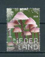 2018 Netherlands Pilze,mushroom,grote Bloedsteelmycena Used/gebruikt/oblitere - Period 2013-... (Willem-Alexander)