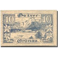 Billet, Autriche, Grünau, 10 Heller, Paysage 1920-11-31, SPL Mehl:FS 300b - Austria