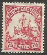 German East Africa - 1905 Kaiser's Yacht 7.5h Mint Hinged *  Sc 24 - Colony: German East Africa